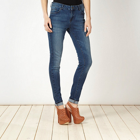 Red Herring - Blue vintage wash super shaper super skinny jeans