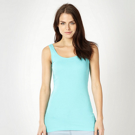 Red Herring - Aqua rib trimmed vest top