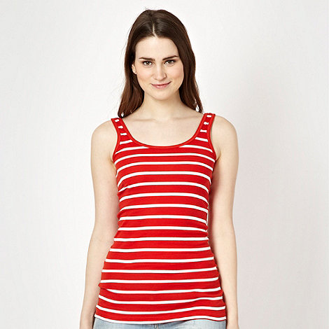 Red Herring - Red ribbed striped vest