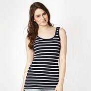 Navy ribbed nautical striped vest
