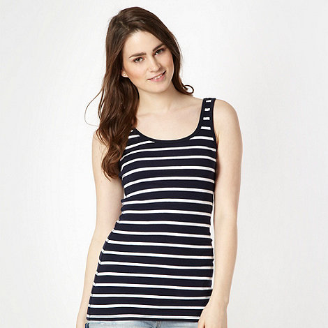 Red Herring - Navy ribbed nautical striped vest