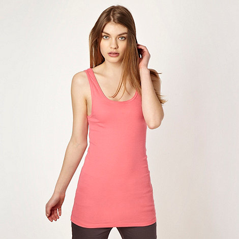 Red Herring - Pink plain ribbed vest