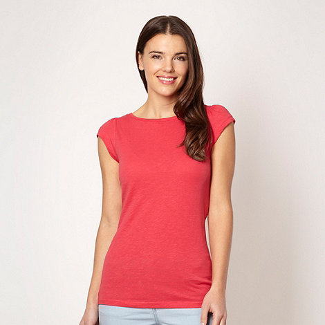 Red Herring - Red plain textured t-shirt