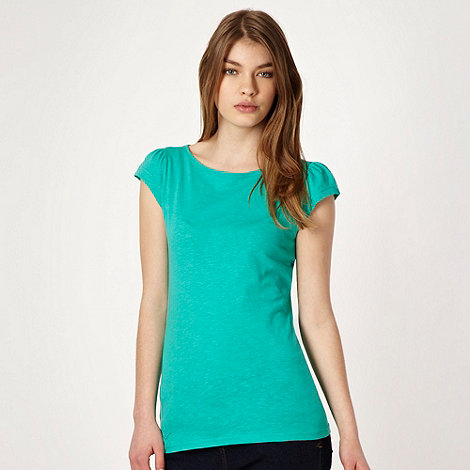 Red Herring - Green plain textured t-shirt