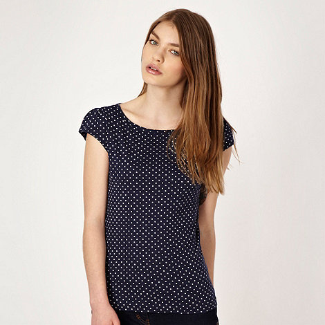 Red Herring - Navy polka dotted t-shirt