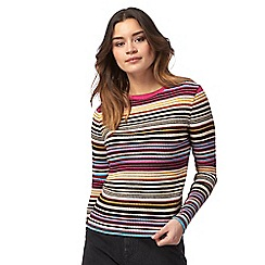 Red Herring - Multi-coloured striped metallic jumper