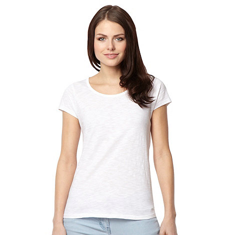 Red Herring - White plain textured t-shirt
