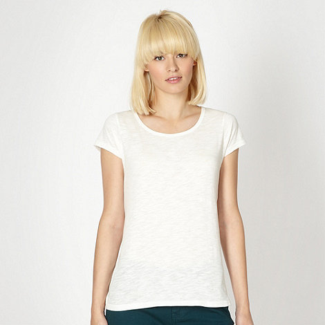 Red Herring - Cream plain textured t-shirt