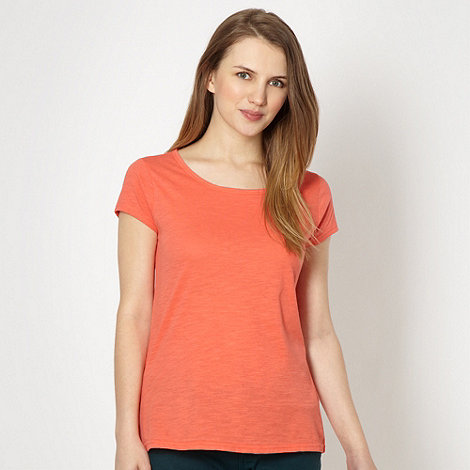 Red Herring - Coral textured jersey t-shirt