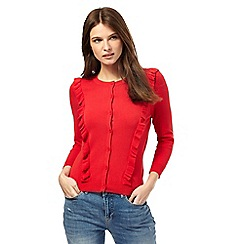 Red Herring - Red frilled cardigan