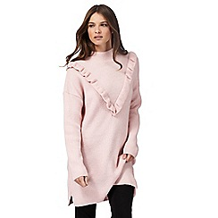 Red Herring - Light pink ruffle tunic jumper