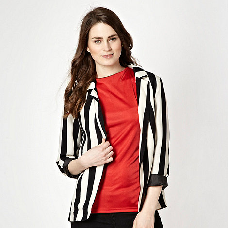 Red Herring - Black and cream striped jacket
