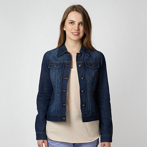 Red Herring - Blue washed denim biker jacket