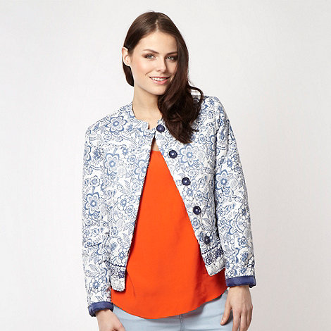 Red Herring - White floral quilted jacket