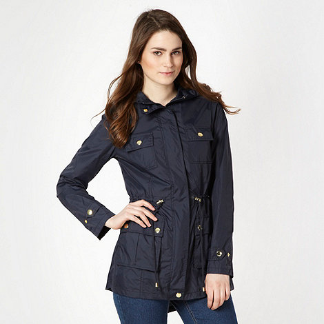 Red Herring - Navy lightweight rain mac