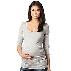 Red Herring Maternity - Grey three quarter sleeved maternity top