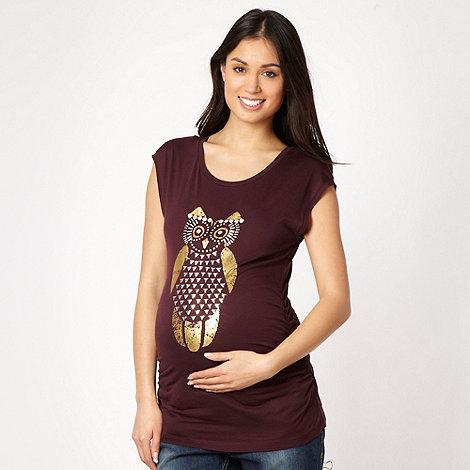Red Herring Maternity - Wine studded owl maternity t-shirt