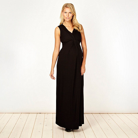 Red Herring Maternity - Black jersey maxi maternity dress