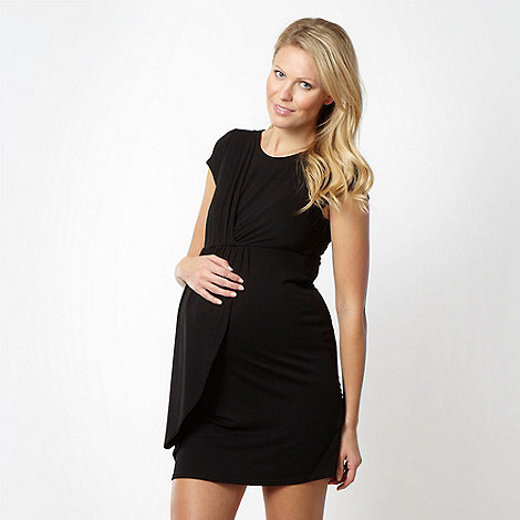 Red Herring Maternity - Black ruched maternity dress