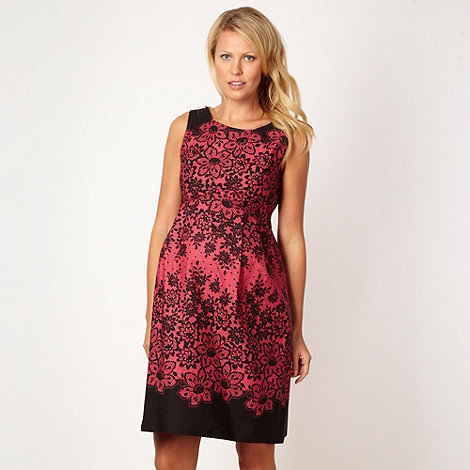 Red Herring Maternity - Dark pink floral lace maternity dress