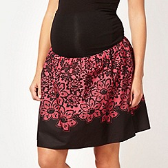 Red Herring Maternity - Dark pink floral lace maternity skirt