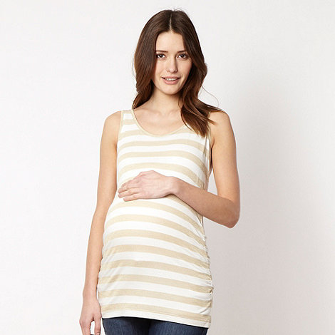 Red Herring Maternity - White metallic striped maternity vest