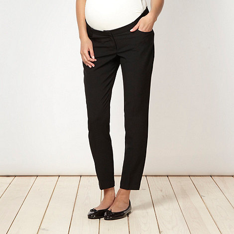 Red Herring Maternity - Black cropped maternity trousers