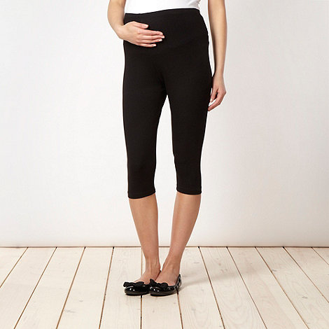 Red Herring Maternity - Black cropped maternity leggings