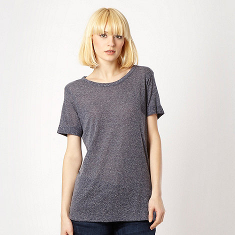 Red Herring - Blue slim fitting long length t-shirt
