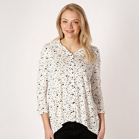 Red Herring - Ivory butterfly print shirt