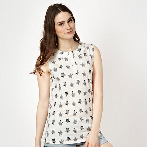 Red Herring - White owl peter pan top