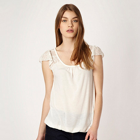Red Herring - Ivory lace sleeve top