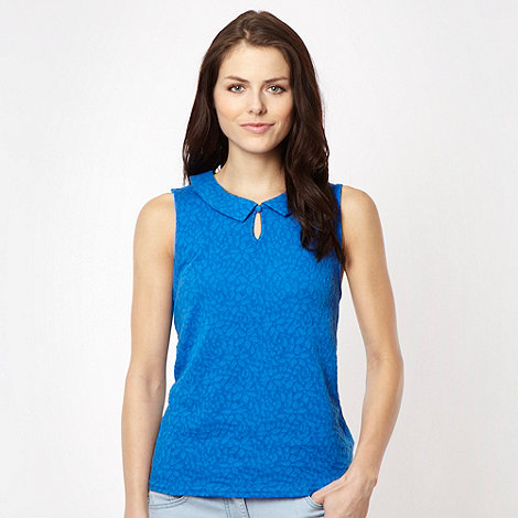 Red Herring - Royal blue lace peter pan collar vest