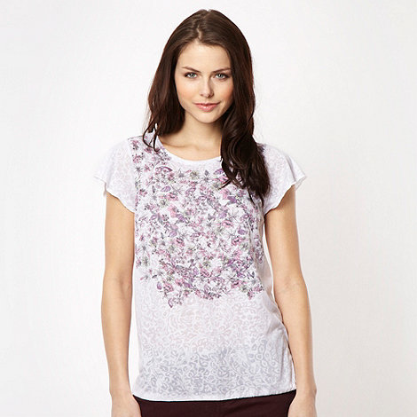 Red Herring - White floral print t-shirt