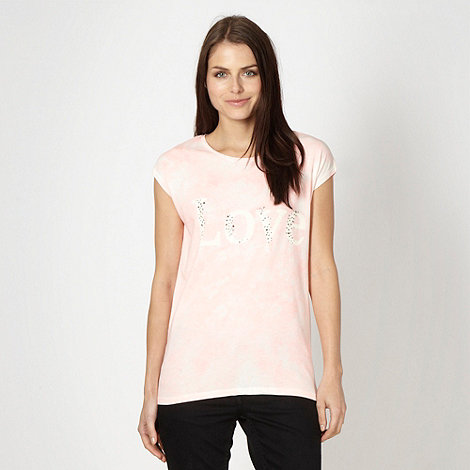 Red Herring - Light pink tie dye +LOVE+ t-shirt