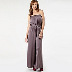 Kate Thomas - Light brown bandeau jumpsuit