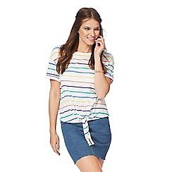 Red Herring - White striped t-shirt