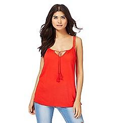 Red Herring - Red tassel vest top