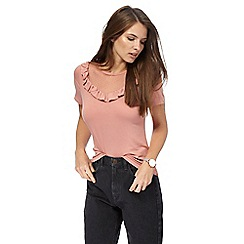 Red Herring - Dark rose lace yoke top