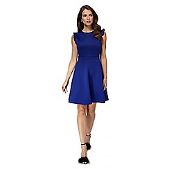 Red Herring - Royal blue scuba 'Ellen' skater dress