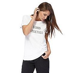 Red Herring - White short sleeves 'Stand Together' print t-shirt