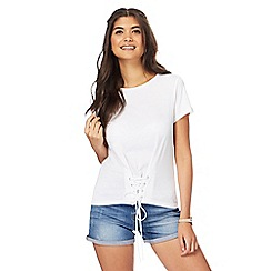 Red Herring - White corset front t-shirt