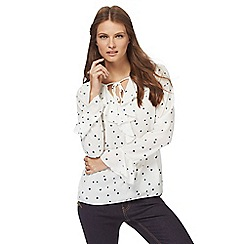 Red Herring - Ivory star print blouse