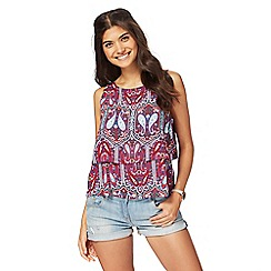 Red Herring - Multi-coloured paisley print top
