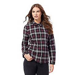 Red Herring - Black and pink checked frill collar shirt