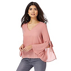 Red Herring - Pink split sleeves top