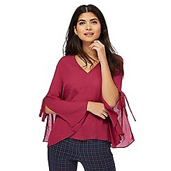 Red Herring - Plum split sleeve top