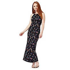 Red Herring - Black paisley print maxi dress