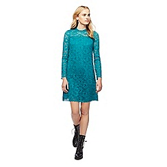 Red Herring - Turquoise lace high neck dress