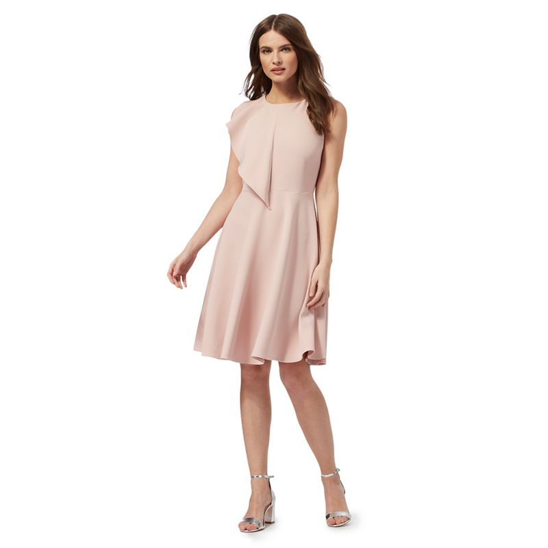 Red Herring Light pink ruffled dress